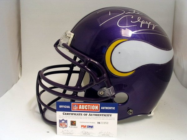 24: NFL - Daunte Culpepper Autod Game Used Helmet