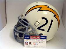 19: Chargers - Tomlinson Game Used Throwback Helmet