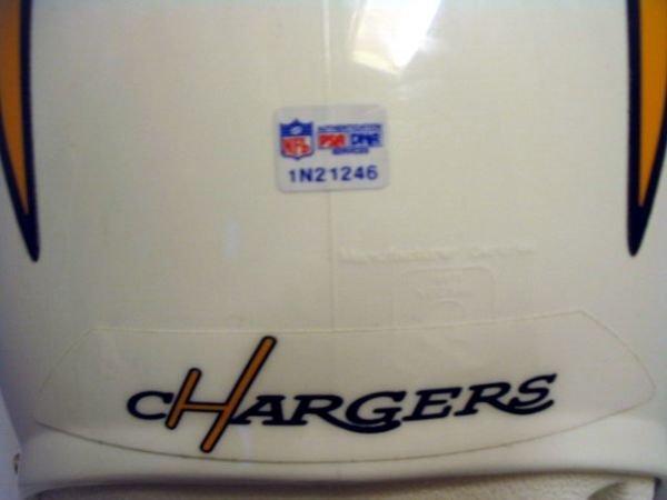 19: Chargers - Tomlinson Game Used Throwback Helmet - 3