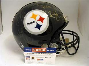 Steelers - Proline Helmet Signed by Several Stars