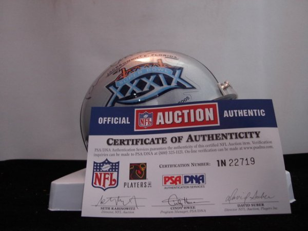 2: Paul McCartney signed Superbowl 39 mini helmet