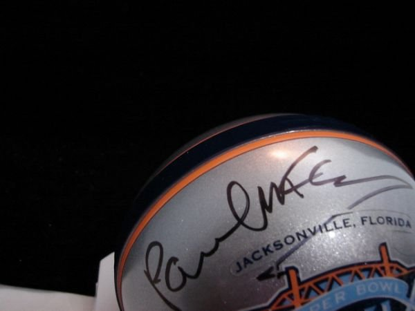 2: Paul McCartney signed Superbowl 39 mini helmet - 2
