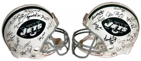 3: 1969 NY Jets Team Signed Helmet