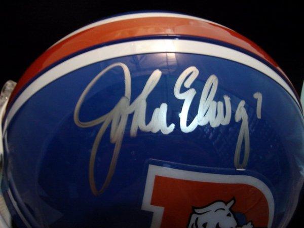 5: John Elway signed throwback helmet