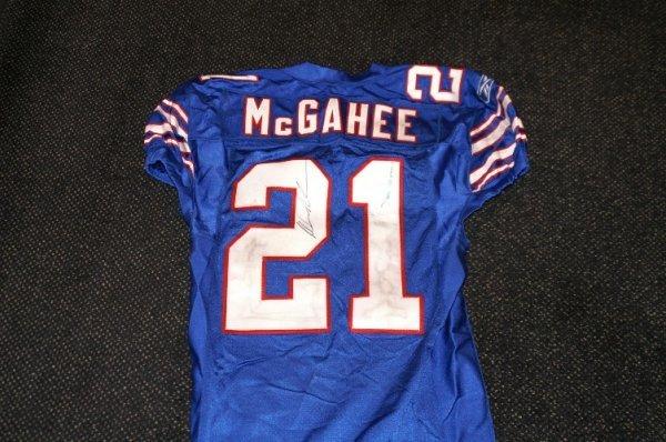 7: Willis McGahee game worn signed jersey