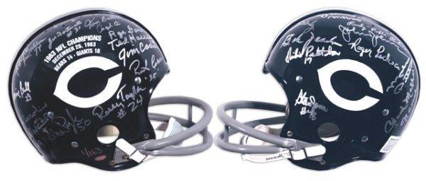 9: 1963 Chicago Bears Autographed Helmet