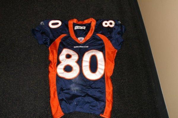 12: Denver Broncos- Rod Smith game used jersey