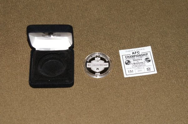 20: Official 2005 AFC Championship game coin