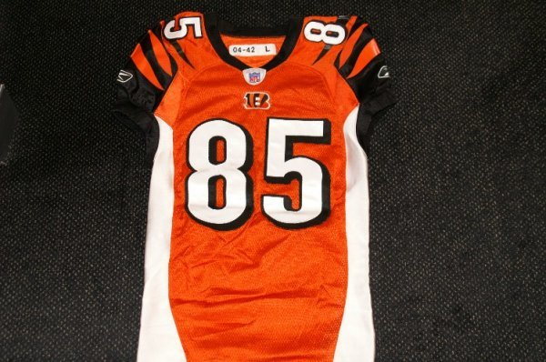 21: Chad Johnson game used jersey