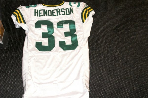 23: William Henderson game used uniform w/signed jersey