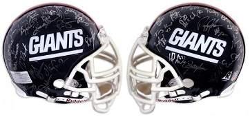 35: 1986 New York Giants Team Signed Helmet (40) Signat