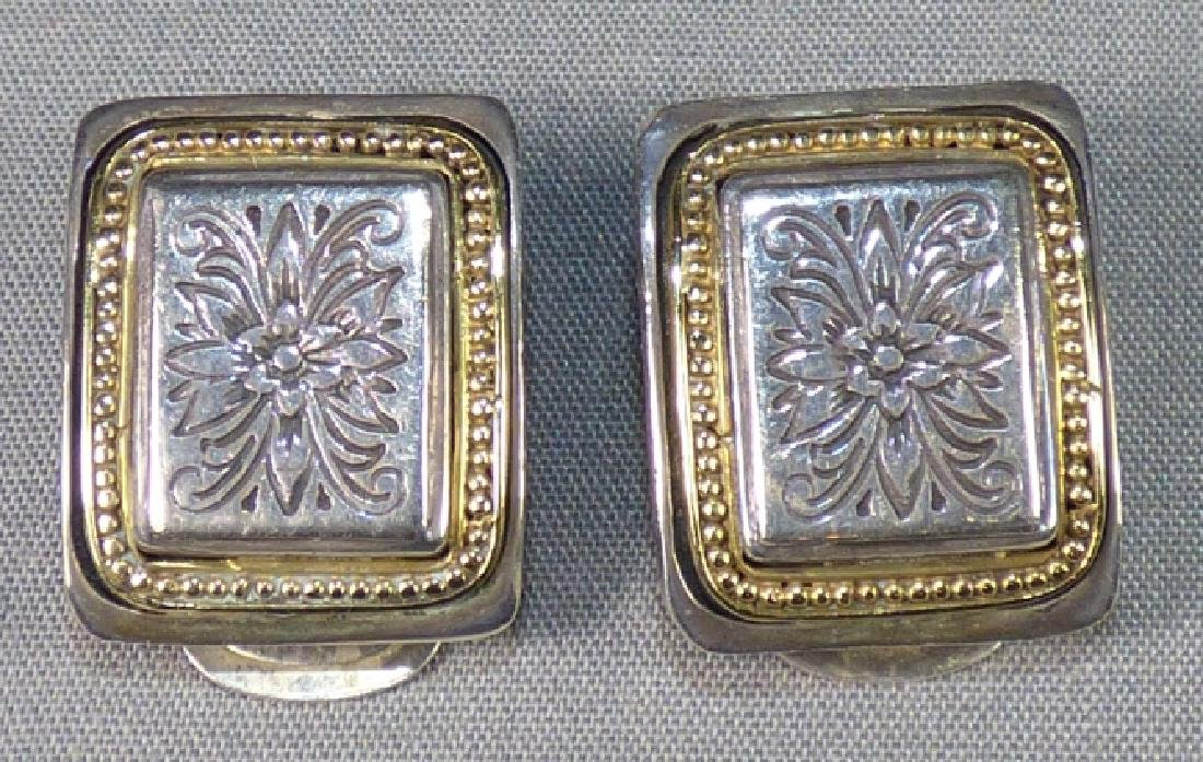 Pair Konstantino Sterling & 18K Gold Earrings