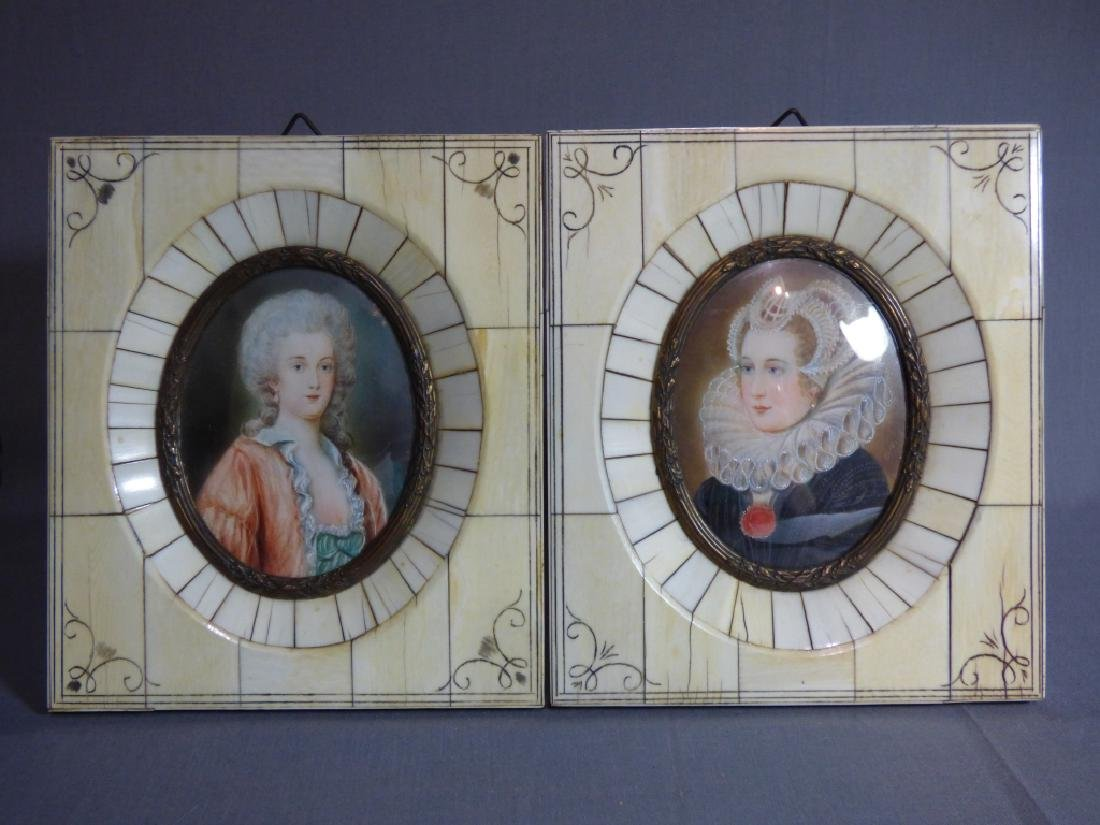 Two Antique Portrait Miniatures