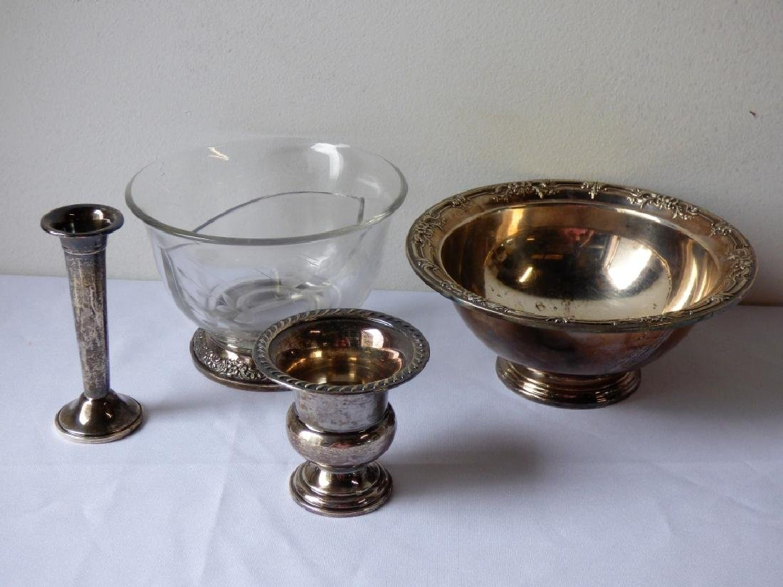 Four Sterling Silver and Silver-Mounted Items