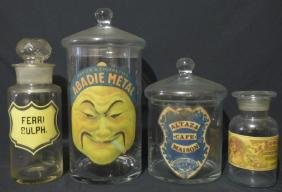 Group of Antique French Glass Apothecary Jars