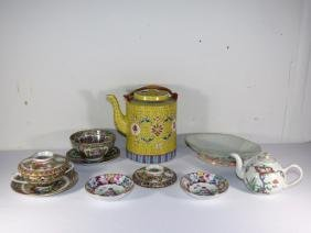 Group Antique Chinese Famille Rose Items