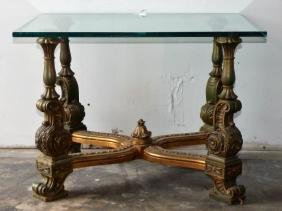 A Gilt-Wood Occasional Table