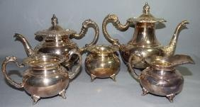 A Japanese .950 Silver Coffee & Tea Service