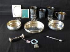 Group of Silver & Silver-Plate Baby's Items