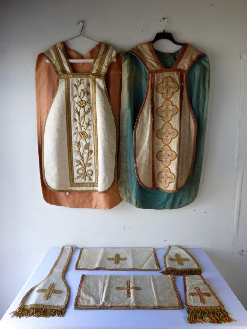 Group of Antique Ecclesiastical Vestments