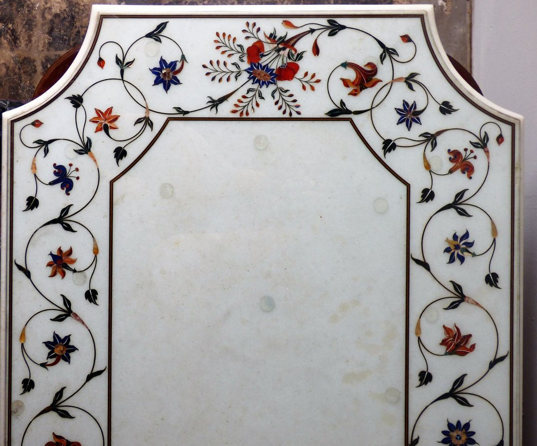An Italian Pietra Dura Inlaid Marble Tabletop