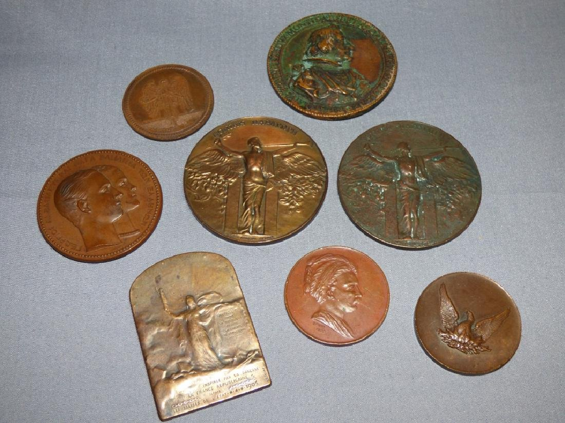 Group of Antique Bronze Commemorative Medallions