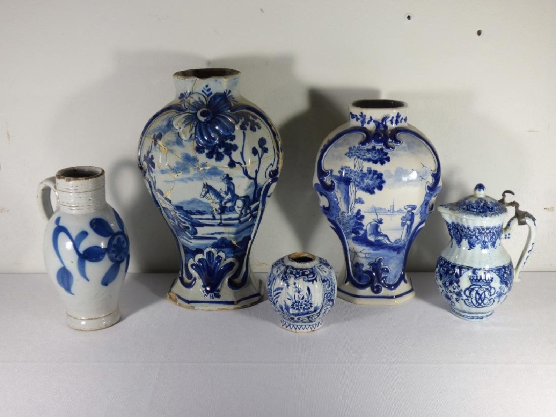 Group of Antique Delft Articles