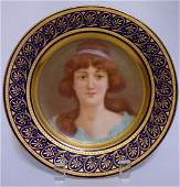 A Royal Vienna Porcelain Cabinet Plate