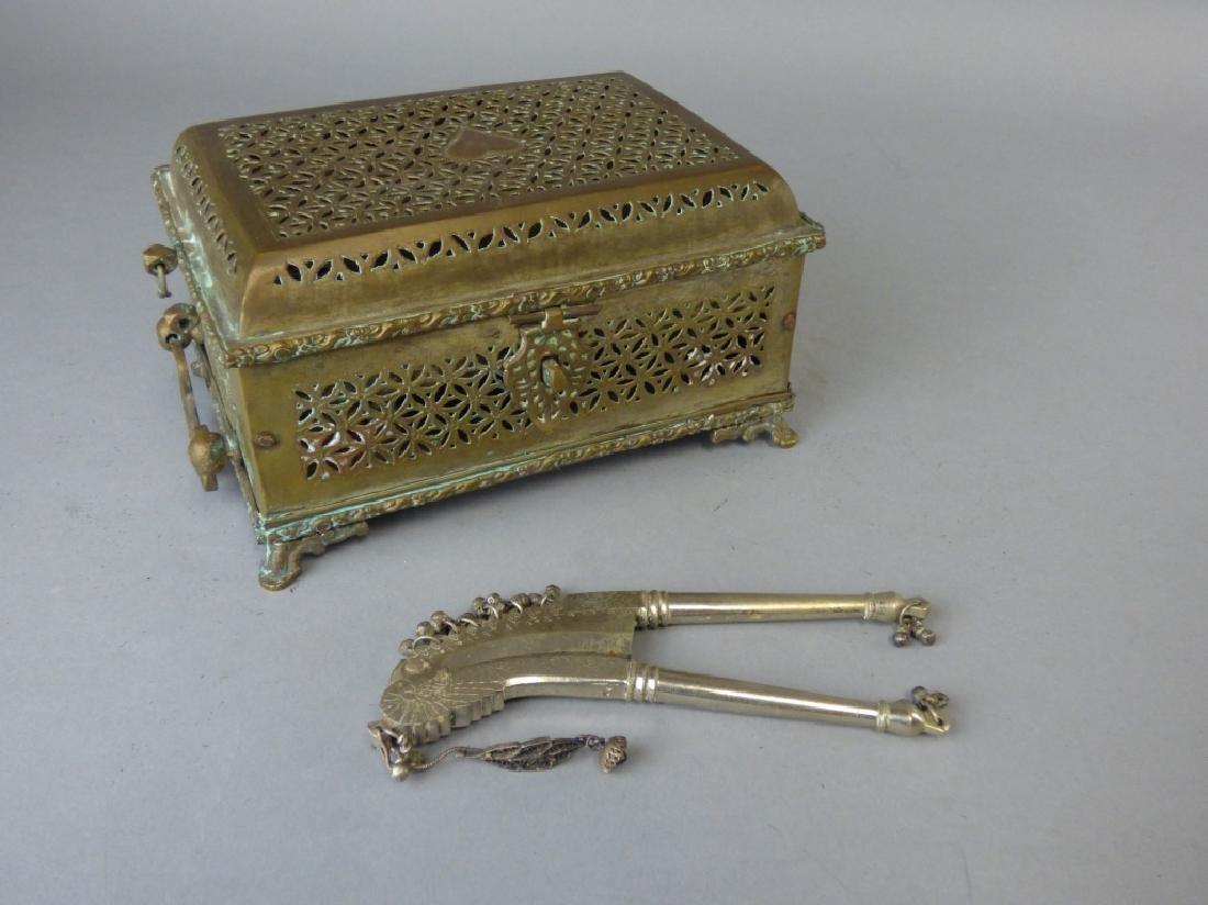 An Antique Indian Pandan Betel Nut Box and Cutter - Dec 10