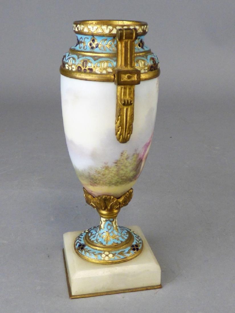 French Porcelain, Gilt-Bronze & Champleve Vase - 3