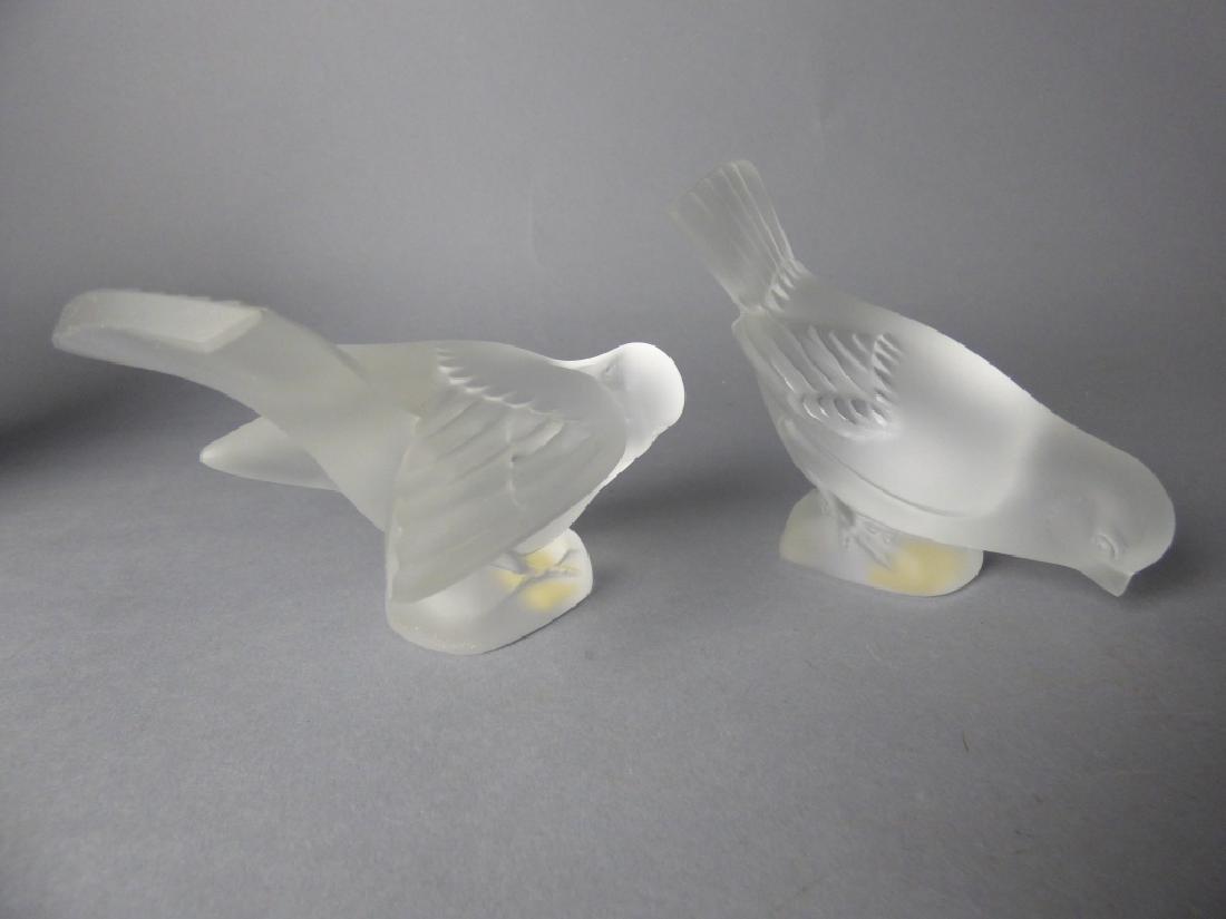 Pair of Lalique Crystal Birds