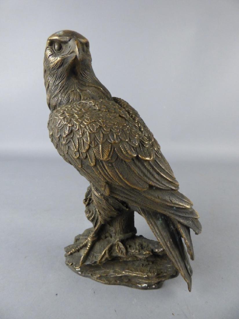 Japanese Bronze Eagle Figure