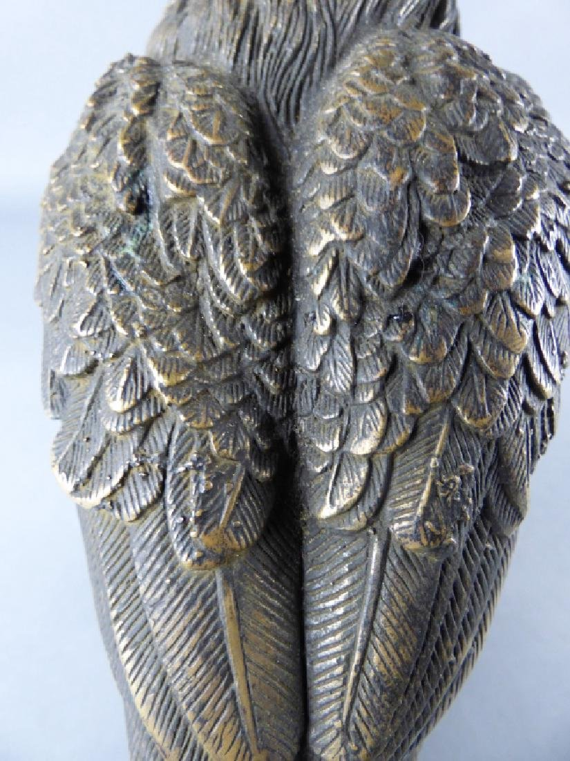 Japanese Bronze Eagle Figure - 7