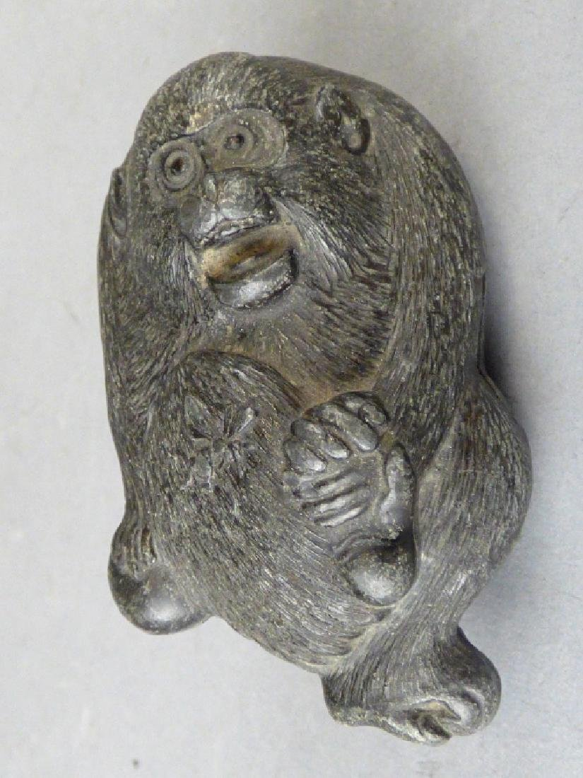 Antique Japanese Figural Pewter Covered Box