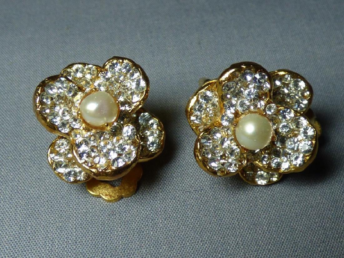 A Pair of Siman Tu Floral Earrings