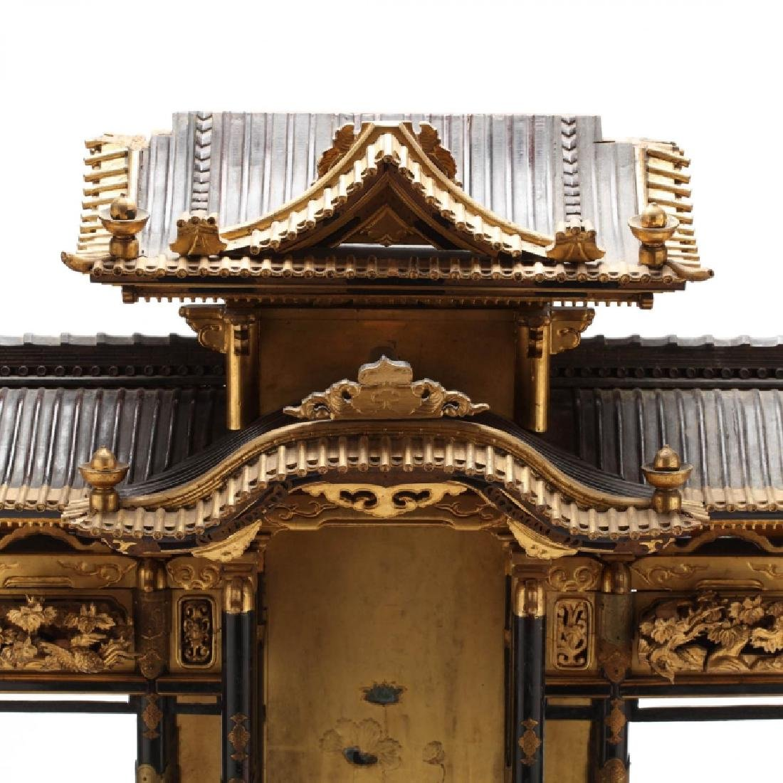 Antique Japanese Butsudan Lacquer and Gilt Shrine - 2