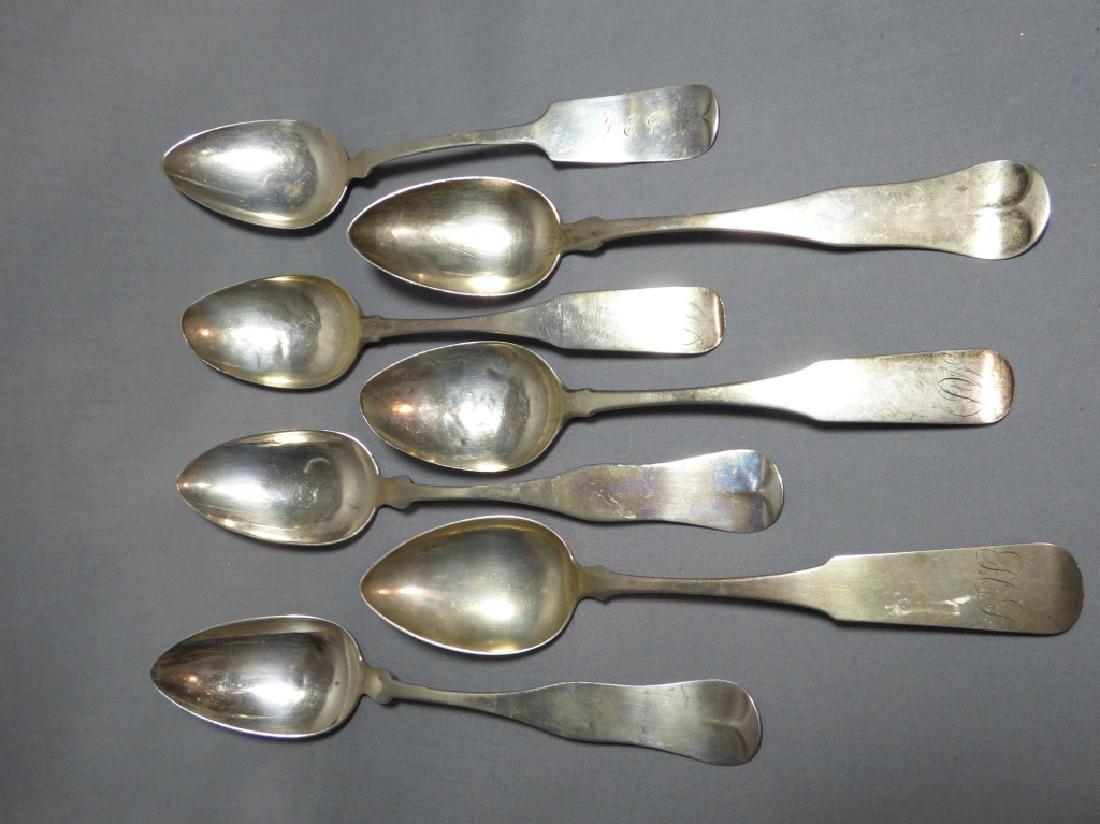 Seven American Coin Silver Spoons