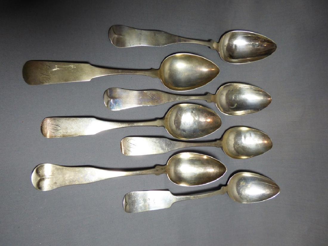 Seven American Coin Silver Spoons - 2