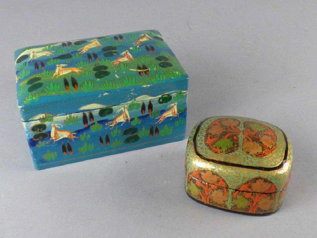 Two Kashmiri Lacquer Boxes