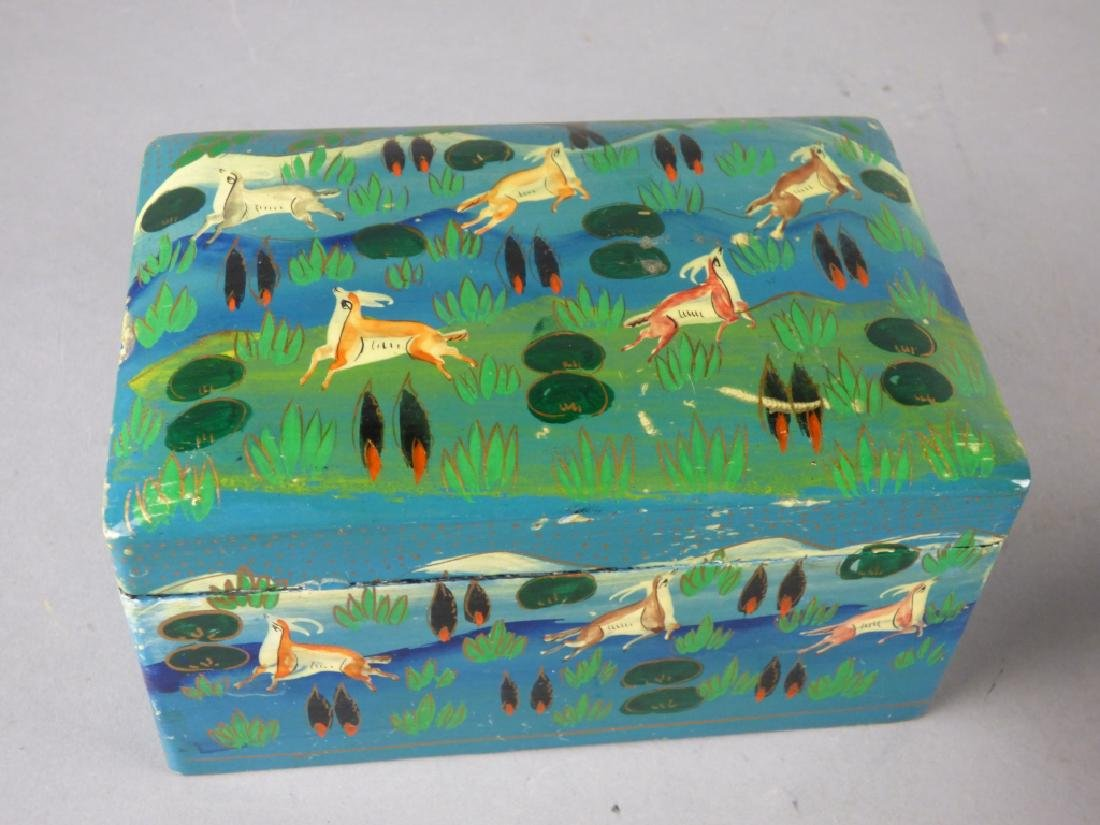 Two Kashmiri Lacquer Boxes - 2