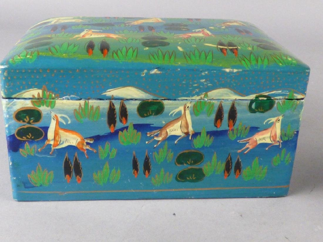 Two Kashmiri Lacquer Boxes - 4