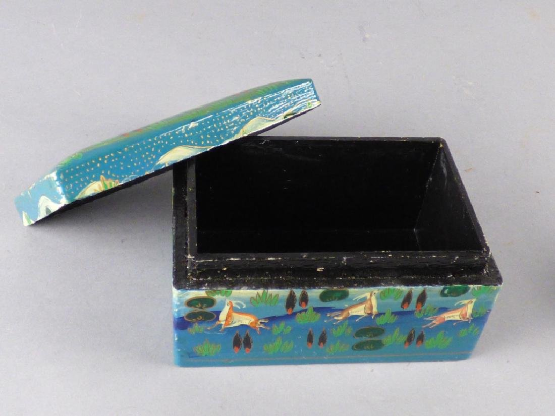 Two Kashmiri Lacquer Boxes - 6