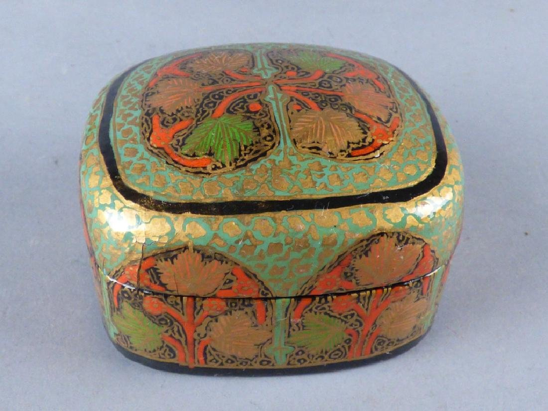 Two Kashmiri Lacquer Boxes - 7