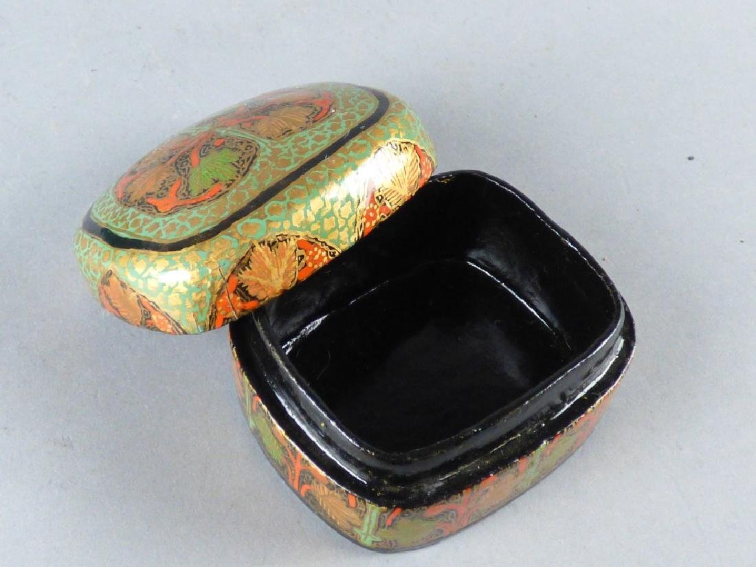 Two Kashmiri Lacquer Boxes - 9