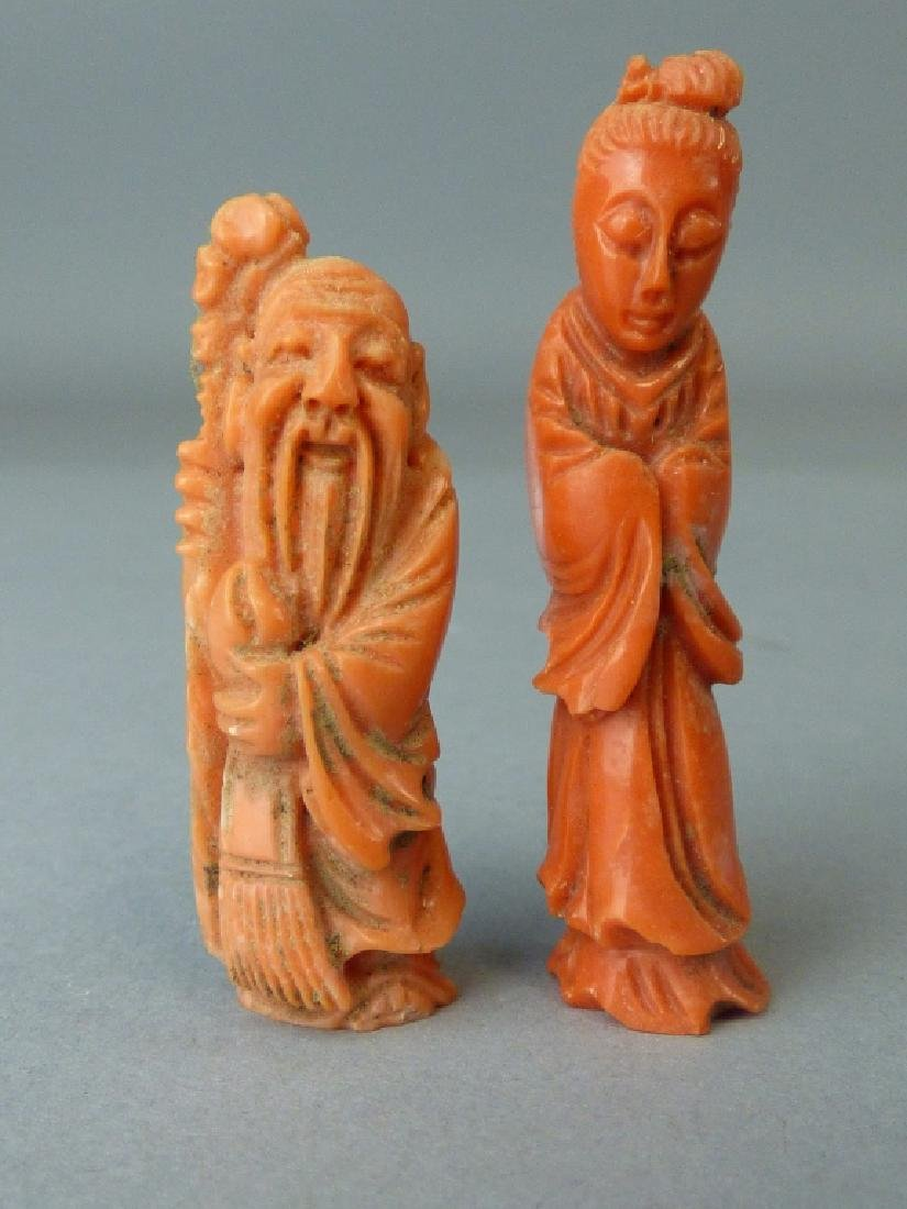 Value of coral asian figurine