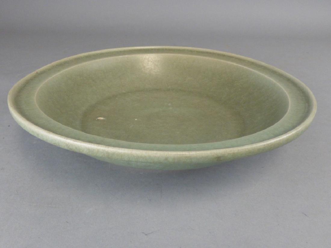 Antique Asian Celadon Porcelain Bowl