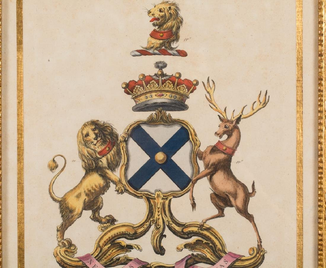 18th Century English Heraldry Crest Engraving - 2