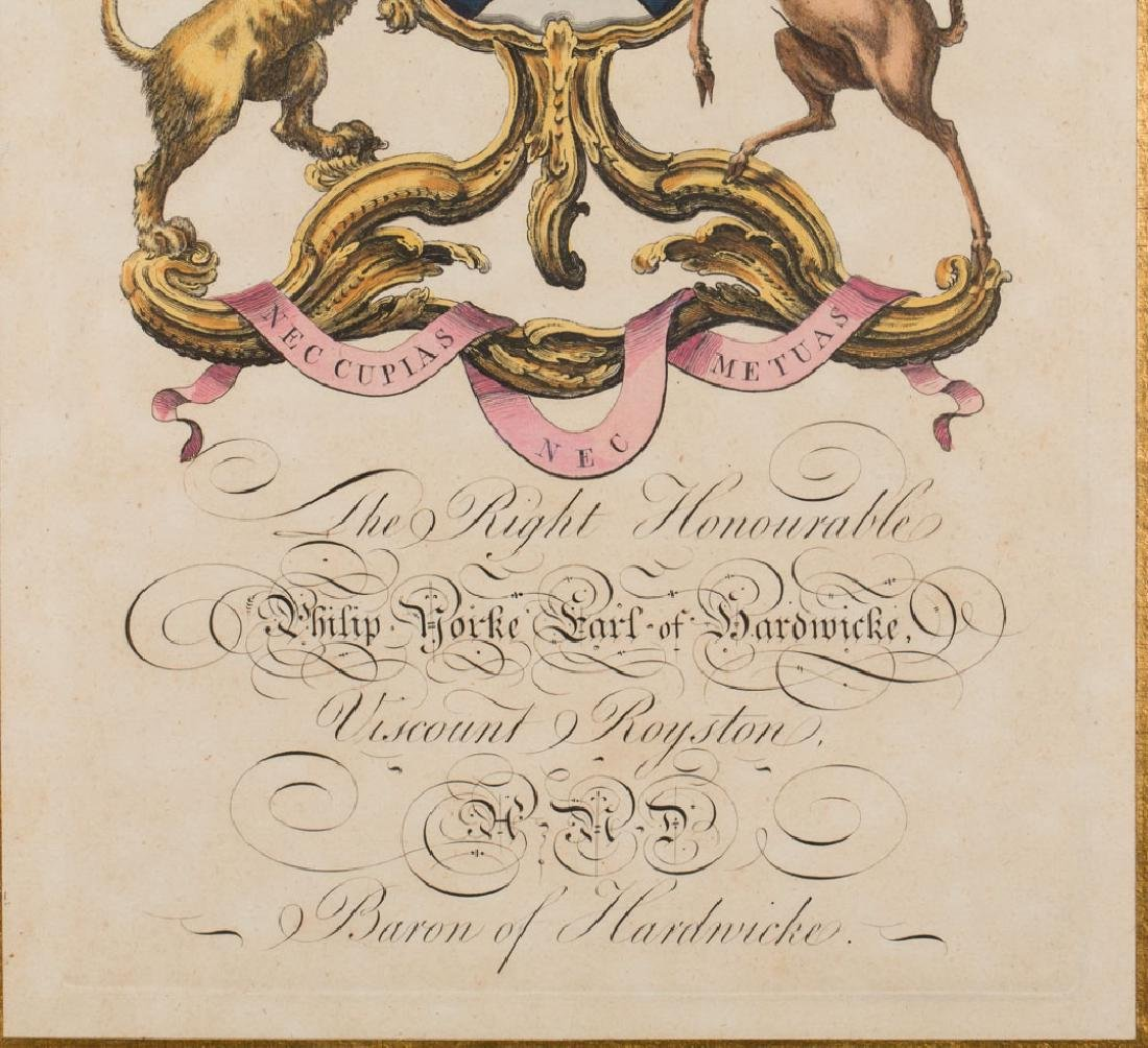 18th Century English Heraldry Crest Engraving - 3