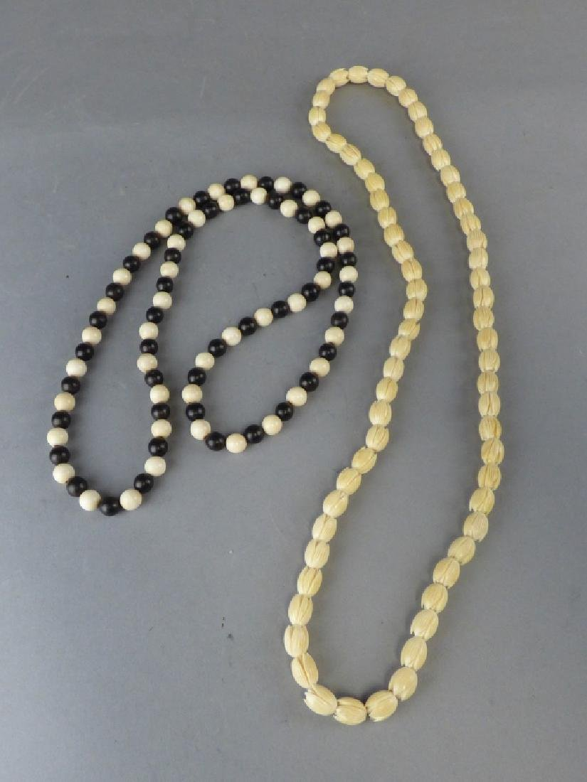 Two Strands of Finely Carved Buddhist Prayer Beads