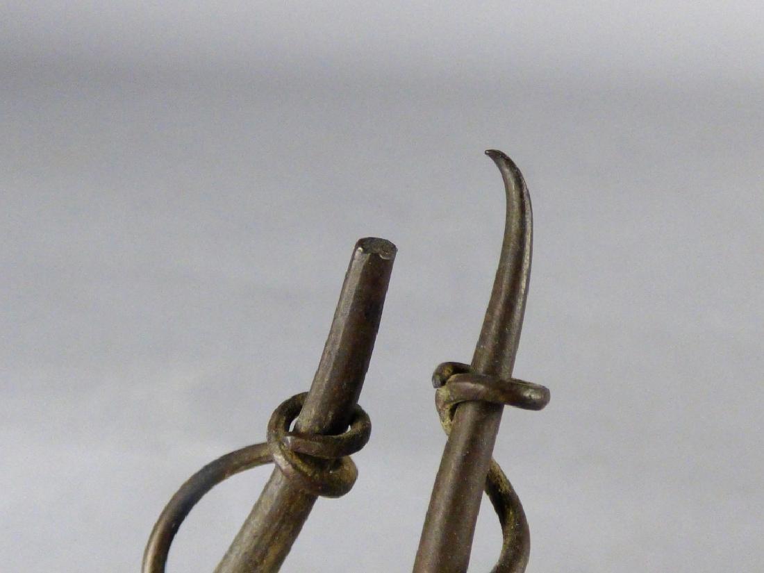 Two Japanese Bronze Prawns - 10